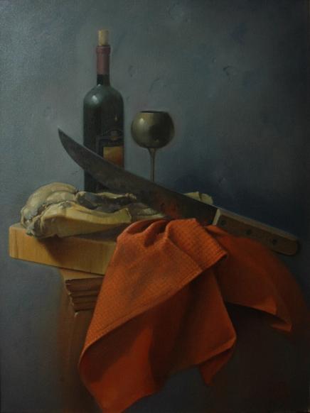 Rebecca C Gray, Prosciutto and Wine, 2010.