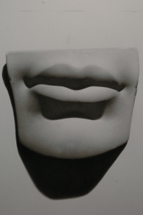 Rebecca C Gray, Mouth Cast Drawing, 2011.