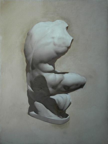 Rebecca C Gray, Cast Painting: Belvedere Torso, 2012.