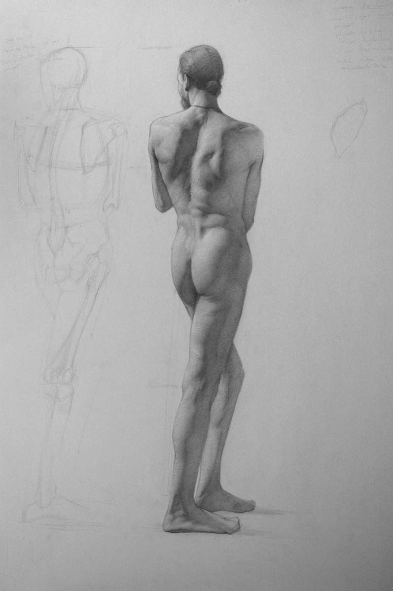 full figure nude study